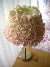 Shabby Chic Pottery by Decoration Prepossessing Shabby Chic Lamp Shade Rosette Rose Diy