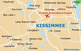 map of kissimmee orlando international airport information near kissimmee