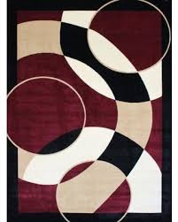 Modern Abstract Area Rugs Deal Alert 1052 Burgundy 3 U00279x4 U00279 Area Rugs Modern Contemporary