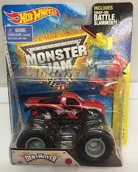 hotwheels monster jam trucks wheels monster jam the destroyer 58 wbattle slammer 1 64