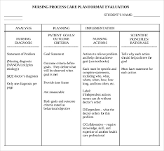 Goals And Objectives Template Excel Nursing Care Plan Templates 16 Free Word Excel Pdf Documents