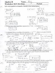 Algebra Worksheets And Answers Algebra 2 Worksheets Wallpapercraft