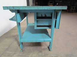 Turquoise Kitchen Island by Butcher Block Workbench Industrial Table Kitchen Island 48