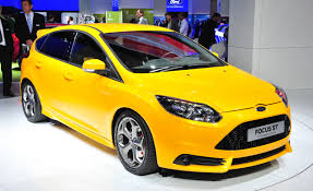 ford focus st yellow 2013 ford focus st debuts in frankfurt car and driver