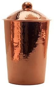 contemporary kitchen canisters sertodo kumran hammered copper kitchen canister contemporary