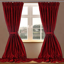 bedroom red silk bedroom curtain idea wayne home decor