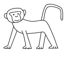 Coloring Dazzling Draw Monky Monkey Step 4