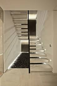 Contemporary Staircase Design Lighting For Stairwell Allows The Staircase Incredibly Beautiful