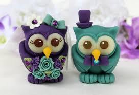 owl wedding cake topper owl wedding cake topper teal purple birds custom and