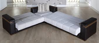 Sectionals With Sofa Beds Fabric Leatherette Convertible Sectional Sofa Bed