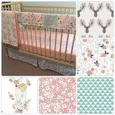 Mini Crib Sets Woodland Fawn Nursery Bedding Set Toddler Bed Standard And Mini