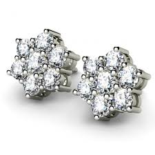 diamond ear studs chanelle diamond earstuds 0 70 carats