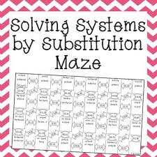 solving systems of linear equations by substitution worksheet