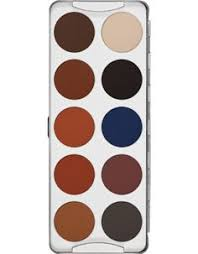 kryolan professional make up eye shadow glitter palette 8 colori kryolan professional make