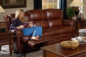 Chestnut Leather Sofa Chestnut Leather Dual Reclining Sofa By Catnapper 4111 C