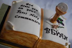 customised cakes by jen boy communion cake