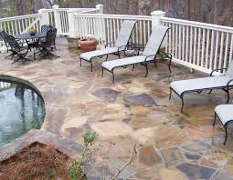 Stone Decks And Patios by Pool Deck
