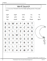 printable word search puzzles for 1st graders second grade unit three week two printouts