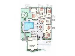 a siheyuan style of chinese courtyard house asian plans with