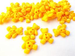 teddy bear buttons 25 orange buttons kids buttons 20mm plastic
