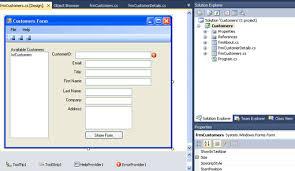design web form in visual studio 2010 windows forms with c using visual studio 2010 tutorial