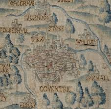 map uk coventry the sheldon tapestry maps warwickshire heritage and culture