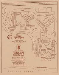 Papakea Resort Map Maui Kaanapali Villas Site Plan Real Estate Sales At Maui