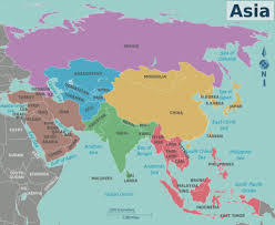 regional map of asia asia travel guide at wikivoyage