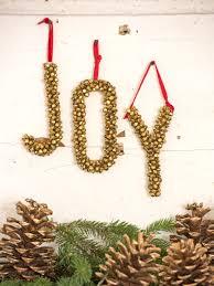 decorative letters metal jingle bell letters ornament