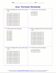 area and perimeter worksheets rectangles and squares tons of