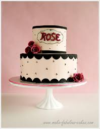a rose y 50th birthday cake