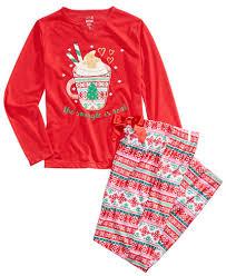 max u0026 olivia 2 pc the snuggle is real pajama set little girls 2