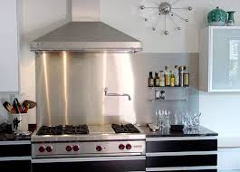 stainless steel kitchen backsplash panels stainless steel backsplash as modern backsplash tatertalltails designs