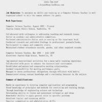 job wining computer teacher resume and cover letter samples for