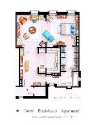 Apartment Designs And Floor Plans Detailed Floor Plan Drawings Of Popular Tv And Film Homes Modern