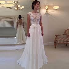 chiffon wedding dresses buy a line beatu cap sleeves floor length chiffon wedding dress