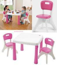 step2 table and chairs green and tan two little tikes step 2 child s folding chairs hard plastic euc tan