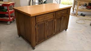 Wheeled Kitchen Islands Fantastic Kitchen Islands On Wheels Youtube