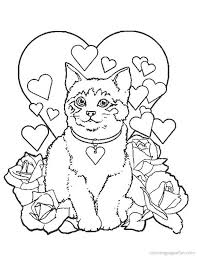 009 christmas kitten coloring pages free gianfreda net