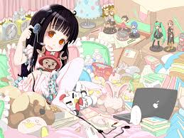 One Room Anime Anime Art Otaku Nerd Bedroom Plushies