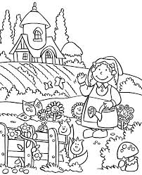 planting carrot seed garden colouring colouring tube