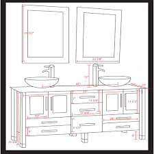 Mirror Height Bathroom Hudson Single Vanity What Is The Standard Height Of A Bathroom Vanity