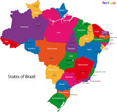 Countries Of South America Map Brazil Locator Map Country Capital City Stock Vector 127610777