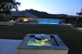 fountain fire pit and spa modern landscape san francisco