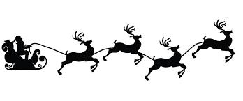 santa sleigh and reindeer search design inspiration