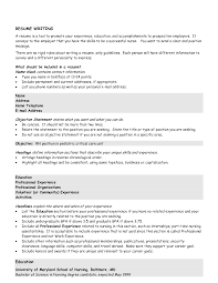 Chronological Order Resume Example Resume Examples Templates How To Write A Objective Resume