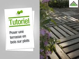 Dalle En Bois Pour Jardin by Comment Poser Une Terrasse En Bois Sur Plots Leroy Merlin Youtube