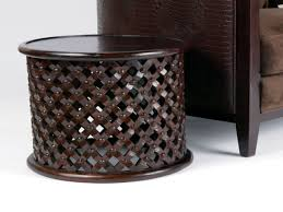 furniture carved wood coffee table design ideas dark brown round
