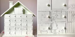 your house how to decorate a wooden house advent calendar u2013 zest and lavender