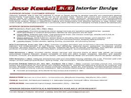 Interior Design Resume Interior Design Samples Interior Design Resume Sample Interior
